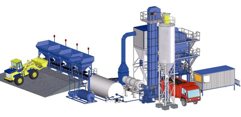 HONGDA Asphalt Mixing Plant LB1500 (120t/h)